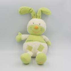 Doudou lapin vert blanc Garden SAUTHON