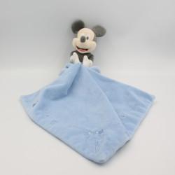 Doudou bébé Mickey gris bleu avec mouchoir DISNEY BABY