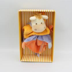 Doudou et Compagnie plat ane cheval Mario jaune mauve Graines de doudou