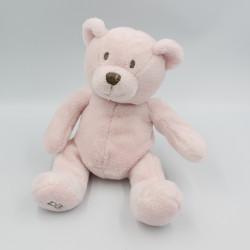 Doudou ours rose tout doux OBAIBI