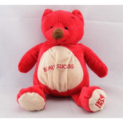 Doudou ours blanc rouge BEAUTY SUCCESS 2007