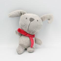 Doudou chien lapin gris rouge ORCHESTRA