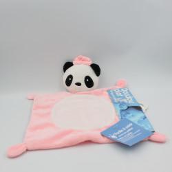 Doudou plat panda rose BABY CALIN