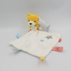 Doudou renard jaune mouchoir blanc étoile HEMA BABY