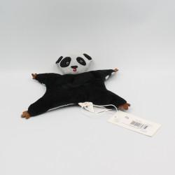 Doudou plat panda noir gris marron CATIMINI
