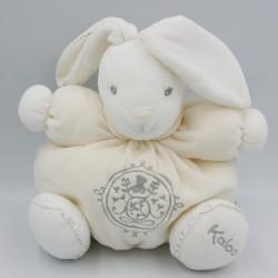 Doudou lapin blanc P'tit lapinou PERLE KALOO 25 cm