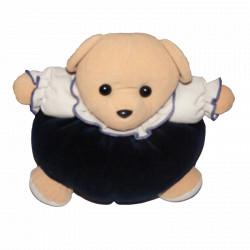 Doudou  ours boule bleu marine AJENA