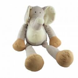 Doudou Elephant gris grande taille Nicotoy