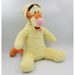 Grand Doudou peluche Tigrou en pyjama jaune DISNEY 40 cm
