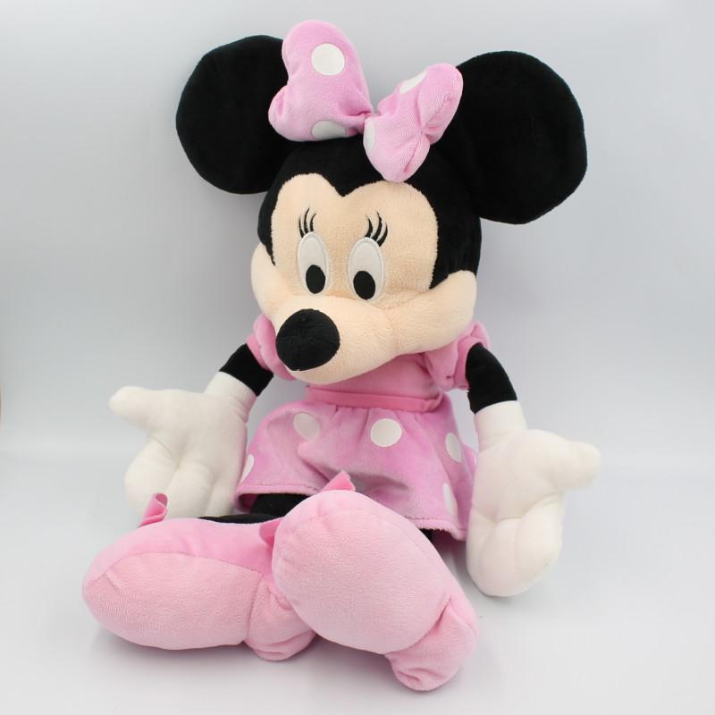 Grande Peluche Minnie robe rose à pois DISNEY NICOTOY