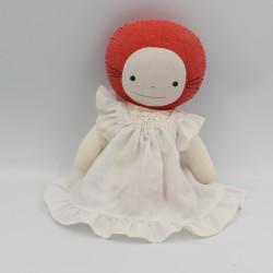 Ancienne poupée Emilie Jolie rouge robe blanche COROLLE RARE