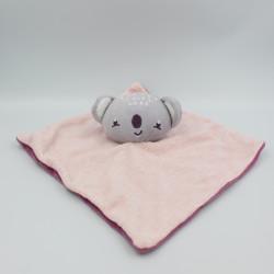 Doudou plat koala rose bordeaux violet SIPLEC