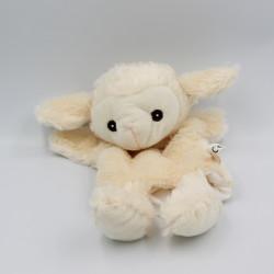 Doudou plat marionnette mouton blanc TOI TOYSHI