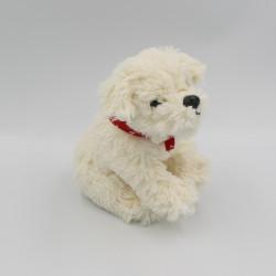 Doudou peluche chien blanc foulard rouge RACHELHALE NICOTOY