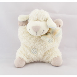 Doudou mouton blanc spirale écharpe bleu KIABI NICOTOY