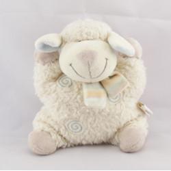 Doudou semi plat mouton blanc spirale KIABI NICOTOY