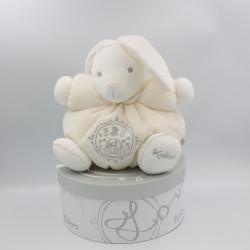Doudou lapin blanc P'tit lapinou PERLE KALOO 25 cm NEUF