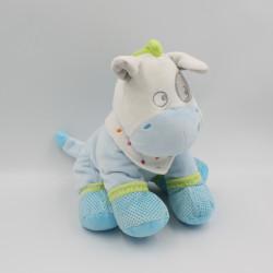 Doudou cheval bleu vert pois MOTS D'ENFANTS