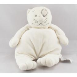 Mini doudou Chat blanc DPAM Du Pareil Au Même