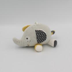 Doudou éléphant gris blanc...