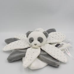 Doudou et compagnie plat panda collector blanc gris étoiles