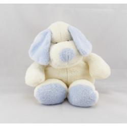 Doudou ours blanc bleu NICOTOY