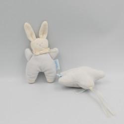 Mini Doudou lapin Patachou bleu blanc Corolle lot