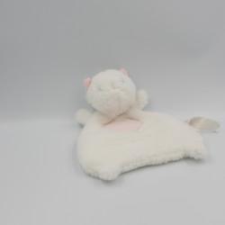 Doudou plat chat blanc rose premier Major SERGENT MAJOR