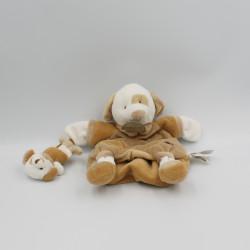 Doudou plat chien Daffy et son bébé DOUDOU ET COMPAGNIE