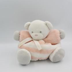 Doudou ours blanc orange rayé Tendres et Douces KALOO