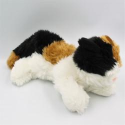 Peluche chat blanc marron noir GIPSY