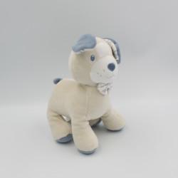 Doudou chien bleu beige DANDY SUCRE D'ORGE