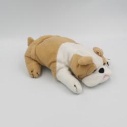 Peluche chien blanc beige Bouledogue GIFI