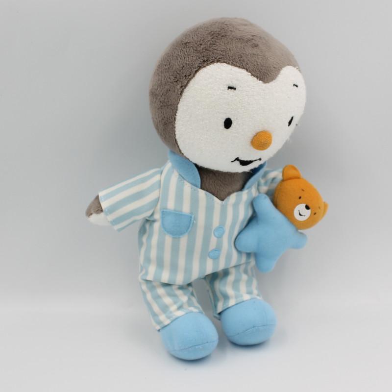Doudou Tchoupi en pyjama bleu rayé JEMINI