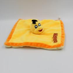 Doudou plat abeille jaune orange Parc du BOCASSE