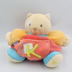 Doudou chat patapouf rouge orange bleu vert K sporty KALOO