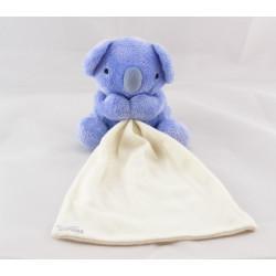 Doudou koala violet bleu avec mouchoir TIGEX