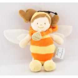 Mini doudou fillette abeille DOUDOU ET COMPAGNIE
