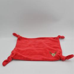 Doudou plat rouge cerf renne elan rouge VERTBAUDET