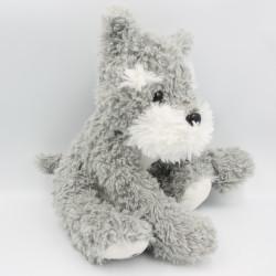 Peluche chien gris blanc M sur la patte