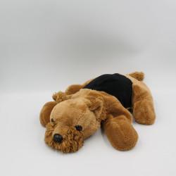 Peluche chien noir marron LA PELUCHERIE
