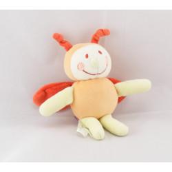 Doudou libellule orange mouchoir Cajou SUCRE D'ORGE