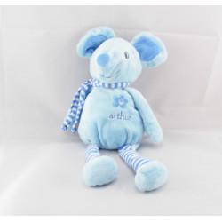 Doudou souris bleu Arthur et Lola BEBISOL
