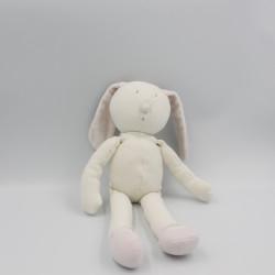Doudou lapin blanc rose