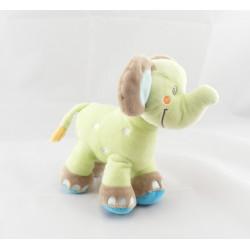 Doudou musical éléphant vert avec ballon NICOTOY