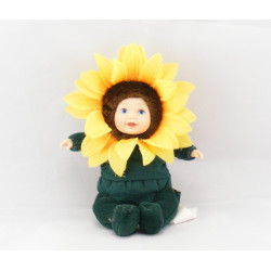 Poupée Métis Tournesol fleur ANNE GEDDES 18 cm