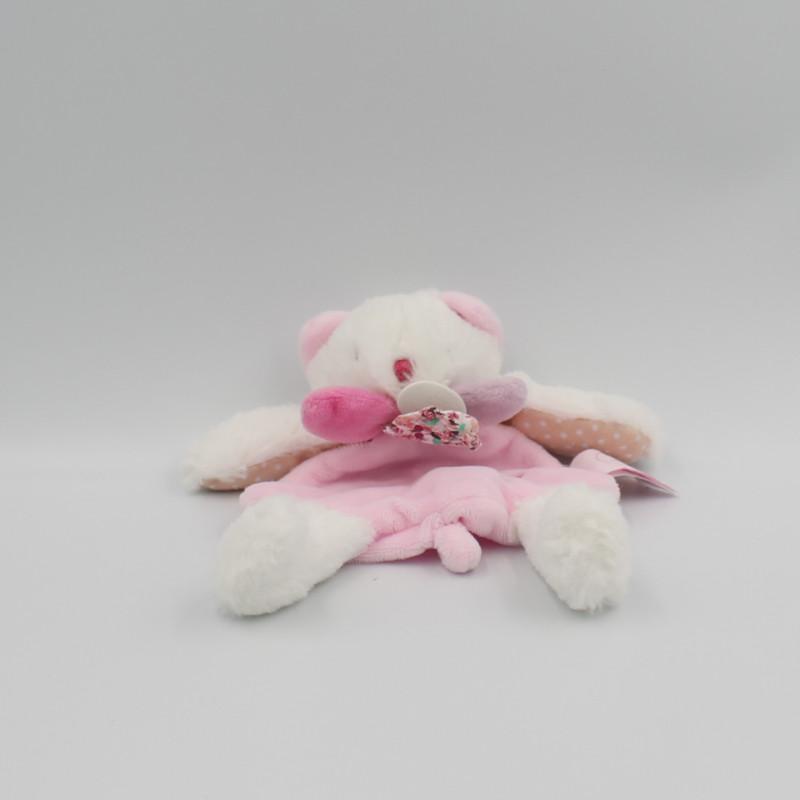 Doudou et compagnie plat chat ours blanc rose Les Gommettes