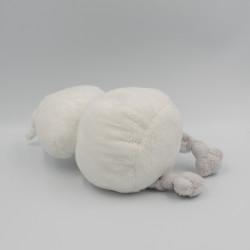 Doudou oiseau blanc gris BAMBAM