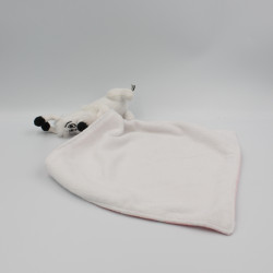 Doudou chien Idéfix mouchoir blanc rose pois Parc ASTERIX