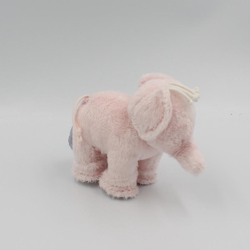Petit Doudou éléphant rose TARTINE ET CHOCOLAT